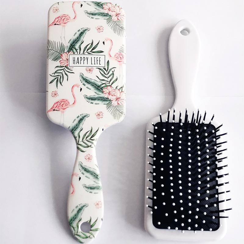Hair Comb Detangling Hair Brush Detangle Hairbrush Salon Hairdressing Straight Curly Hair Comb Paddle Brush Tangle Hair Brush