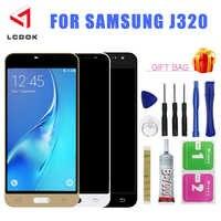 J320 el brillo de la pantalla LCD ajustar para Samsung Galaxy J3 DE 2016 J320 J320F J320M J320Y pantalla LCD de montaje de digitalizador con pantalla táctil Panel