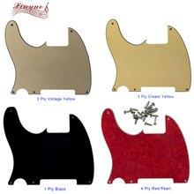 Детали для гитары Pleroo для левой руки, 5 дюймов, жесткая Накладка для гитары с пустой царапиной