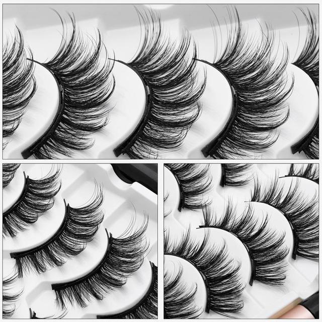 HELAN df50dan Magnetic Eyelashes Set Natural Long Magnetic False Eyelashes Magnetic Eyeliner Set Easy To Wear Lashes 5