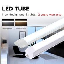 T5 светодиодный ламповый светильник T8 лампа бар 120 см 1200 мм 220V мощностью 10 Вт, 20 Вт, 40 Вт светодиодный s трубы настенный светильник с 2FT 4FT 60 см для дома Внутреннее освещение кухни
