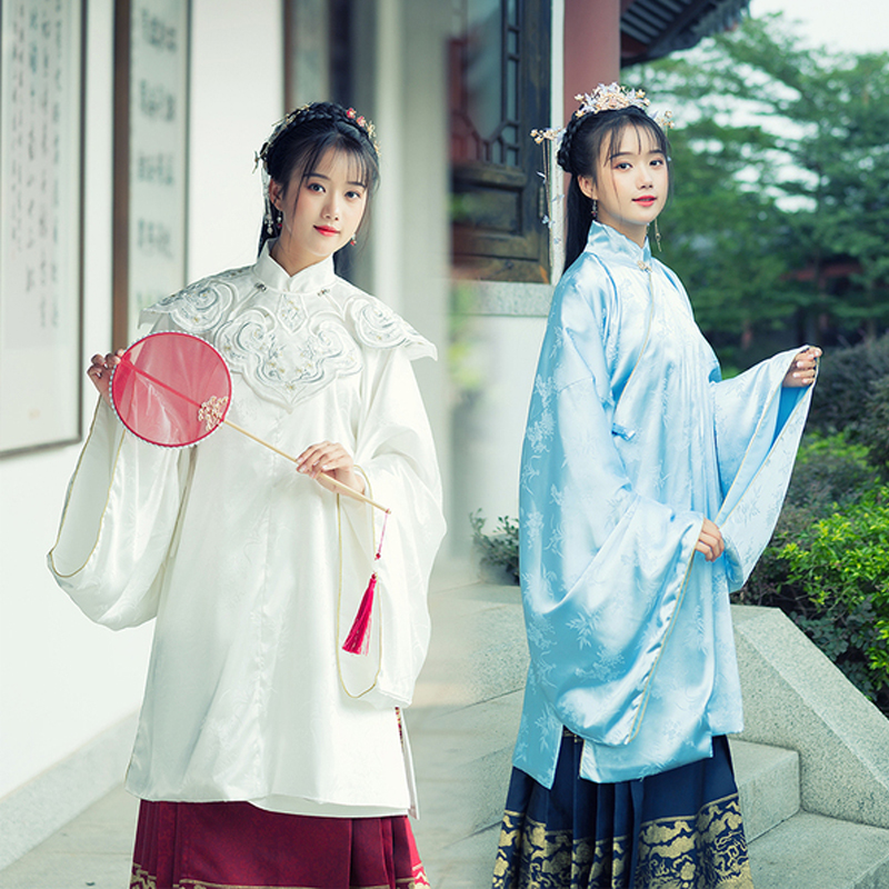 Hanfu Dress Chinese Classical Dance Costume Traditional Festival Outfit Ming Dynasty Ancient Fairy Dress Cloud Shoulder VO400