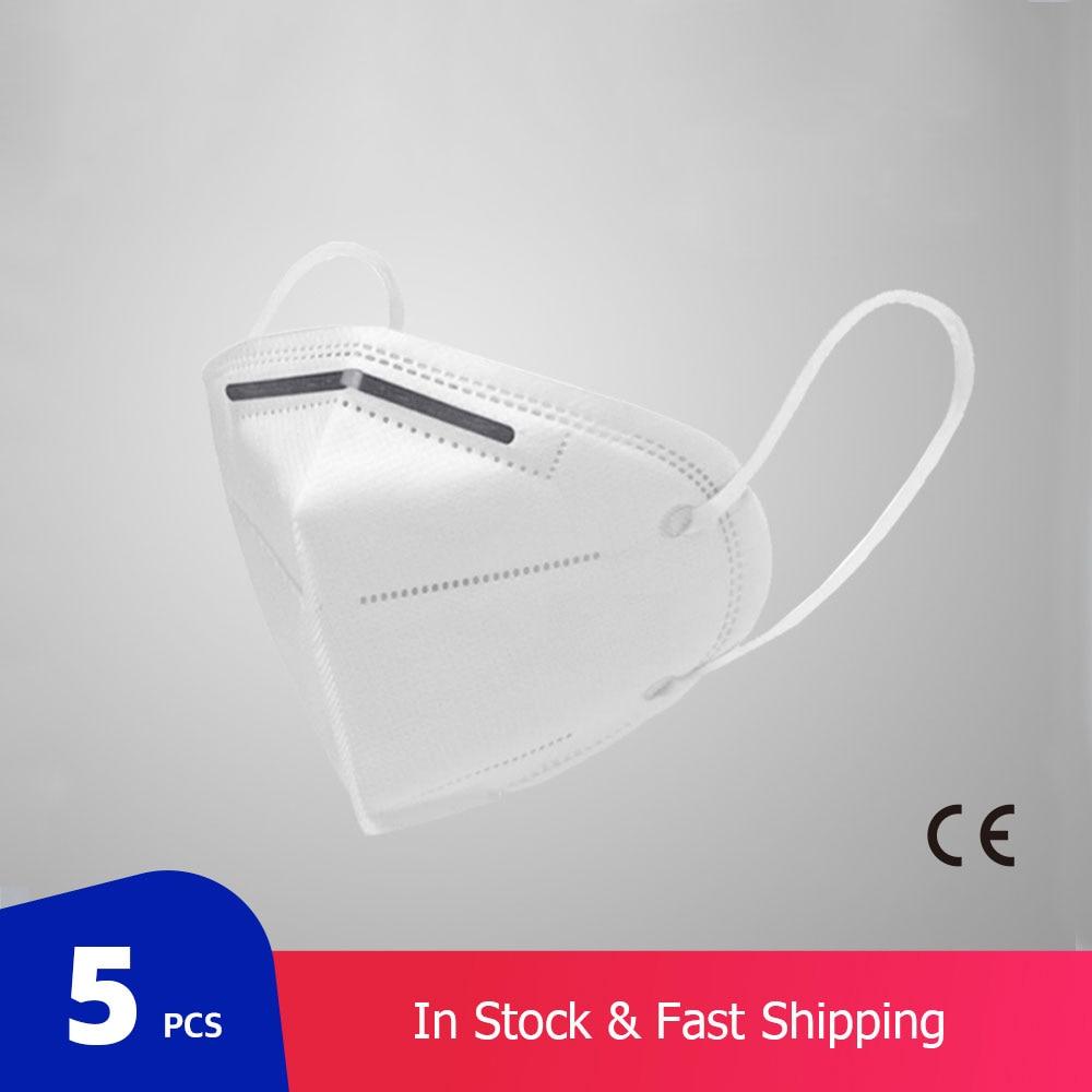 Респиратор для защиты рта, антизапотевающая, многоразовая, 5 шт./пакет, KN95, PM2.5|Маски|   | АлиЭкспресс - 11/11 AliExpress
