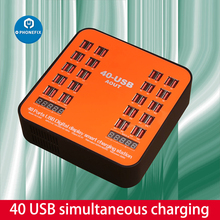 200W 40 Ports USB Charger HUB USB Charging Station dual digital display Charger Dock Socket Multifunctional Tablet Phone Charger