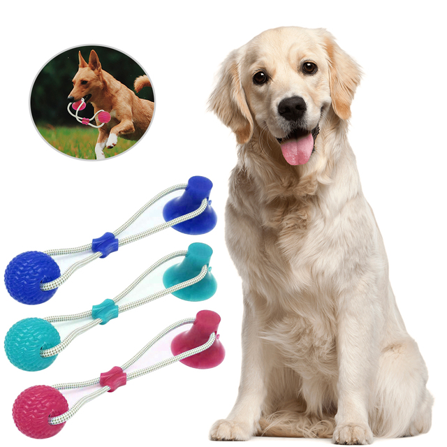 Funny Pet Dog Tug Toys Pets Suction Toy For Small Medium Puppy Dogs Tooth Cleaning Supplies