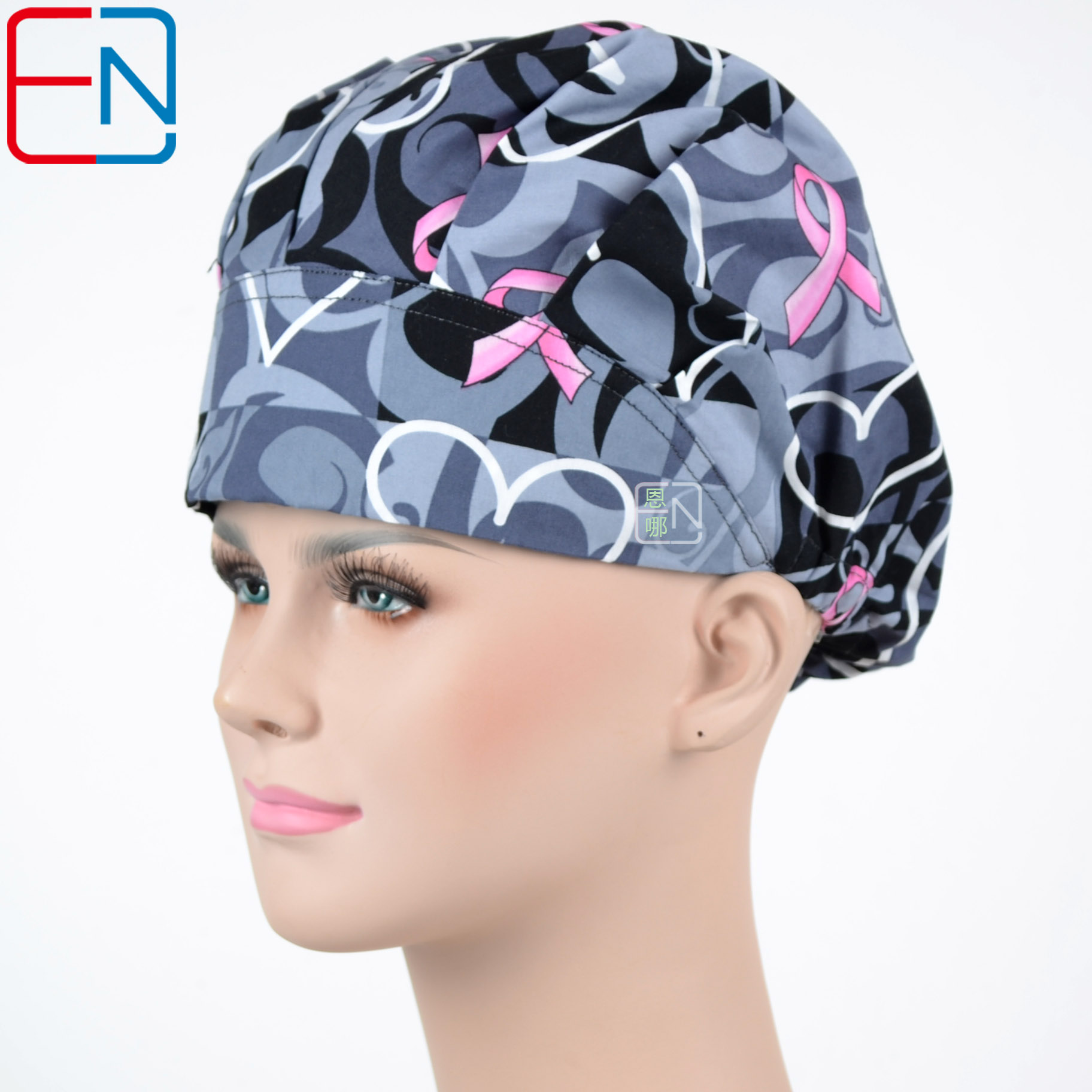 Hennar Brand Women Surgical Caps/hat  In Grey Bouffant Caps