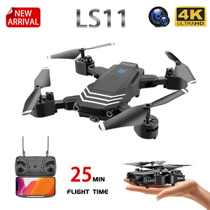 Image 1 - XKJ New RC Drone LS11 WIFI FPV With HD 4K Camera Hight Hold Mode One Key Return Foldable Arm RC Quadcopter Drone For Gift