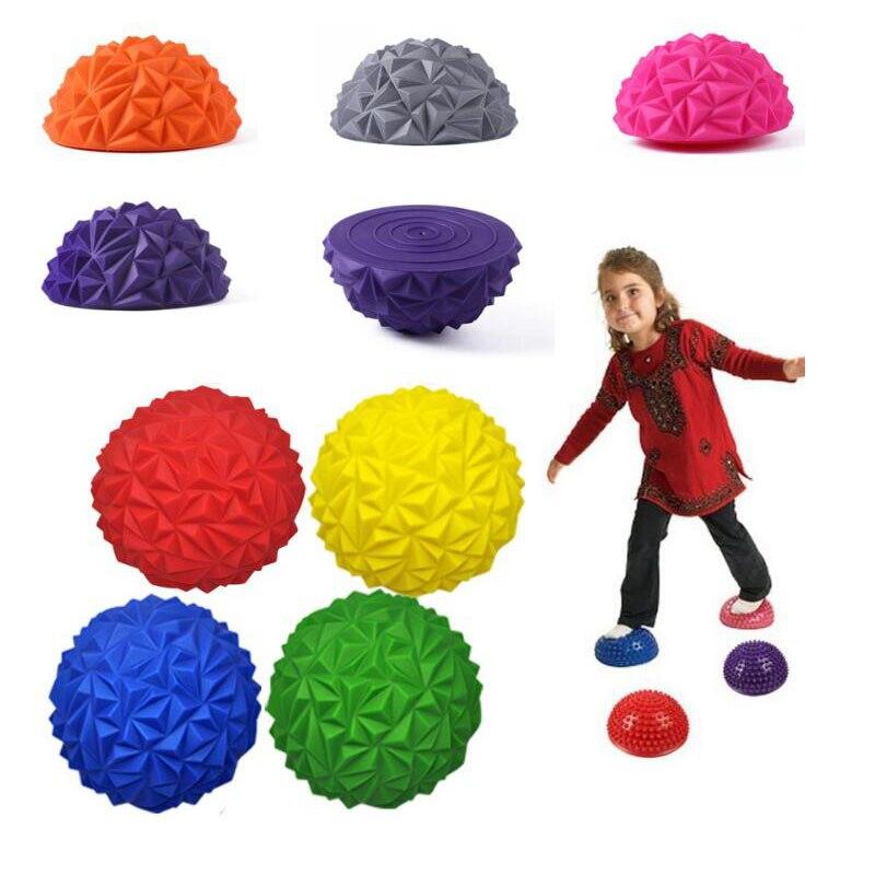 Stepping Stones Kids Games Yoga Durian Pineapple Massage Ball Sensory Integration Balance Activity Toys For Children