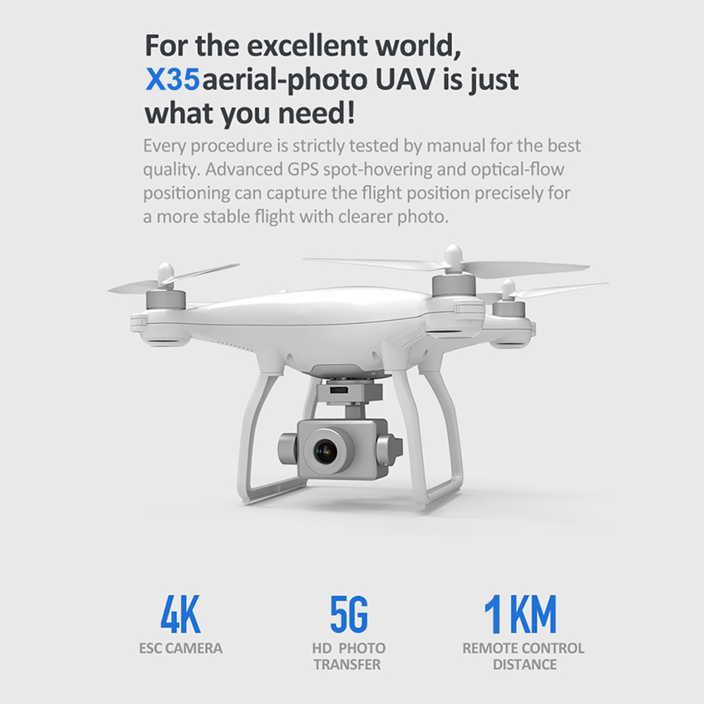 lowest price X35 4K 1080P Video Gimbal Full HD Camera RC Drone FPV 5G WIFI Professional Quadcopter GPS Positioning 22 Minutes Flying Time