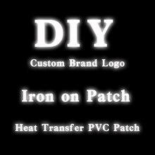 Autocollants de repassage Logo réfléchissant argent, patchs sensibles à la chaleur, Badges décoratifs en PVC, autocollants thermiques