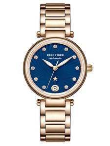 Brand Women Tiger/rt Watches Bracelet Automatic Ladies Luxury Rose-Gold Dial Diamond