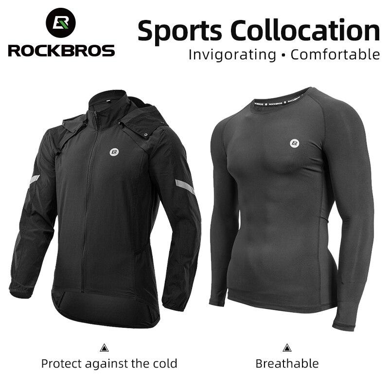 ROCKBORS – veste de cyclisme ultralégère et réfléchissante pour homme, ensemble coupe-vent Long pour vélo de route et vtt