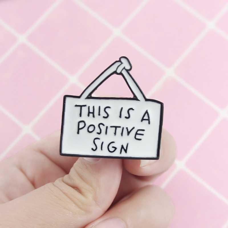น่ารักป้าย: เข็มกลัดนี้เป็นบวกป้ายสร้างแรงบันดาลใจEnamel Pin Denimกระเป๋าเป้สะพายหลังBadgeครอบครัวเด็กที่มีความหมายของขวัญ