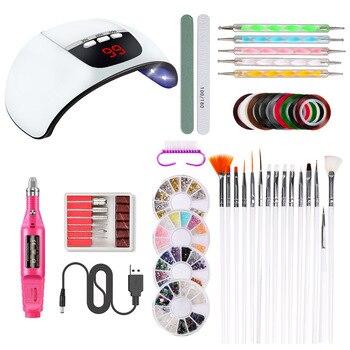 1Set Professional Electric Nail Drill Machine Kit Manicure Machine Nail Art Pen Pedicure Nail File Nail Art Tools Kit
