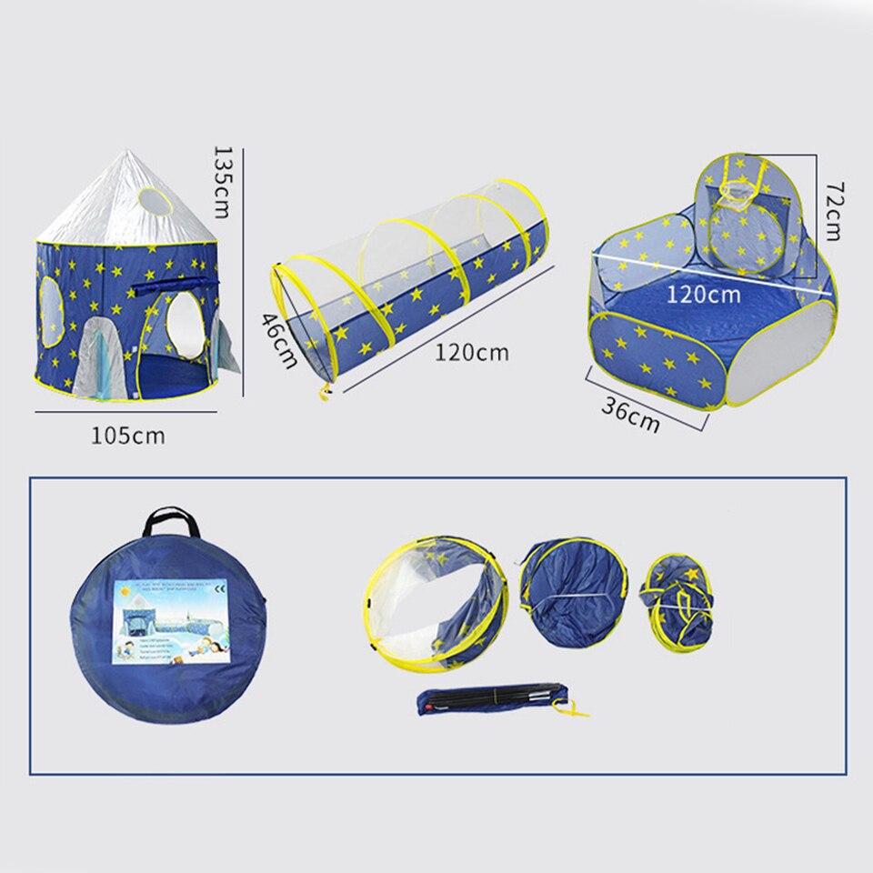 3 w 1 namiot dla dzieci namiot kosmiczny przestrzeń jurta