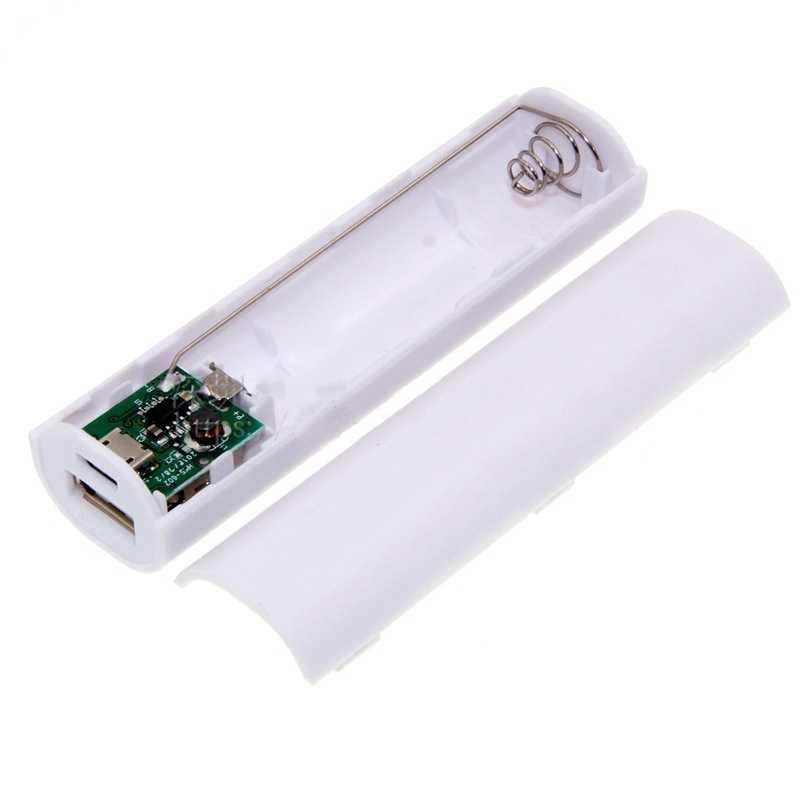 1 قطعة المحمولة شاحن جوّال usb قوة البنك حزمة شاحن صندوق ملون البلاستيك قابلة لإعادة الاستخدام البطارية ل 1X18650 حافظة بطاريات صناديق