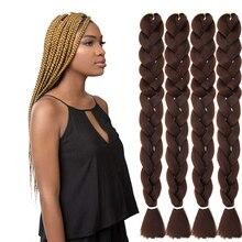 Natifah 165g 82 Inch Jumbo Braid Braiding Hair Braid Extension Pre Stretched Ombre Color Jumbo Braiding Hair Hot Sale