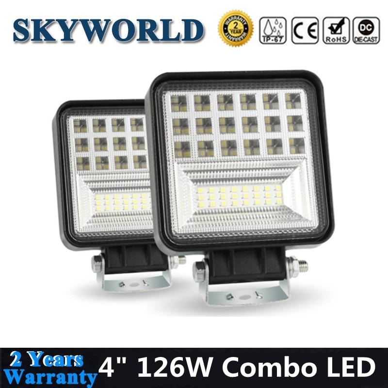 10PCS 5 Inch 72W Flood LED Work Light Bar 7D for Off Road Van SUV Truck Car ATV 4WD Vehicle Driving Fog Lamp