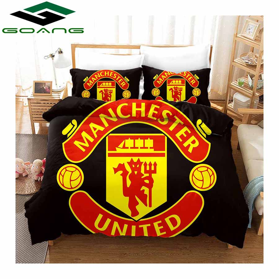 GOANG Bed Sheet Duvet Cover And Pillowcase Home Textiles 3d Digital Printing MANCHESTER Luxury Bedding Sets