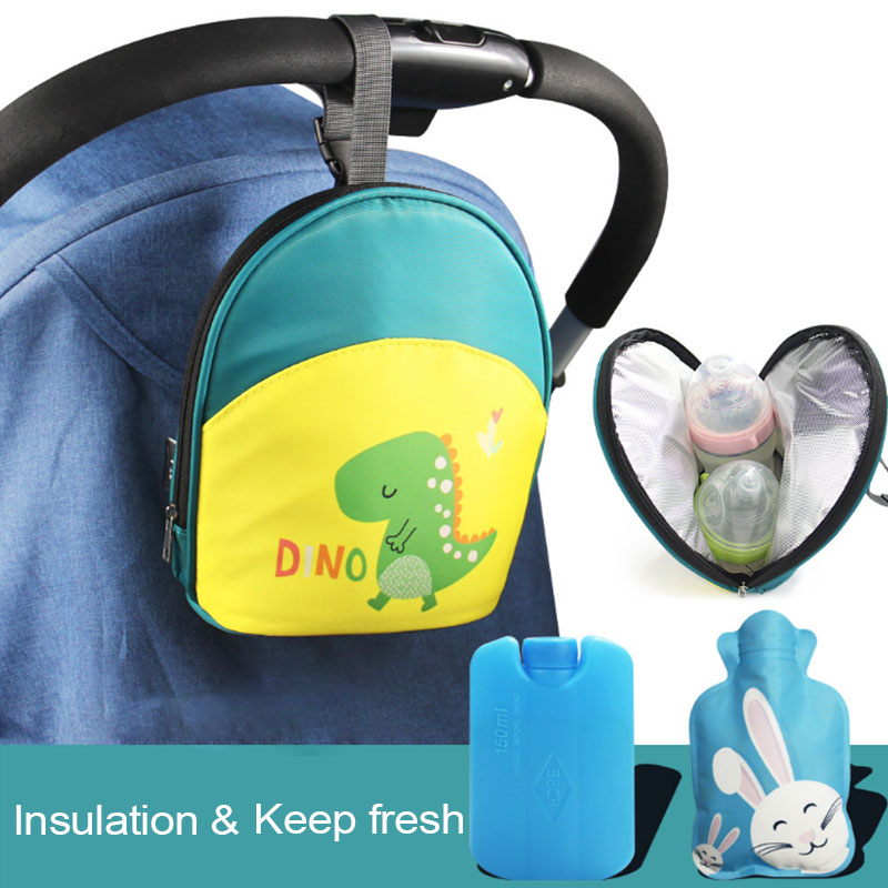 Insulation Fresh Cold Storage Bag Waterproof Breastmilk Cooler Bag Bottle Warmer Bag For Mommy Travel Stroller Hanging Bag