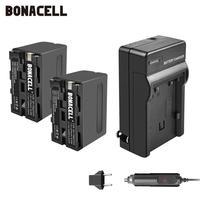 Bonacell 7.2V 8700mAh NP-F960 NP-F970 NP F960 F970 F950 Battery+Charger For Sony PLM-100 CCD-TRV35 MVC-FD91 MC1500C L50