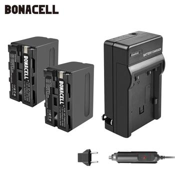 цена на Bonacell 7.2V 8700mAh NP-F960 NP-F970 NP F960 F970 F950 Battery+Charger For Sony PLM-100 CCD-TRV35 MVC-FD91 MC1500C L50