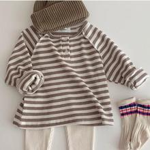 T-Shirt Long-Sleeve Tops Buttons Toddler Baby-Girls Boys Infant Tee with Casual Clothing