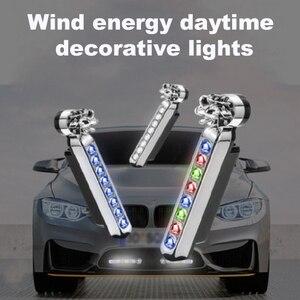 Image 4 - CARCTR 1 para energii wiatru światła do jazdy dziennej nowy 8led motocykl oszczędzania energii nie ma potrzeby zewnętrznego zasilania dekoracji akcesoria