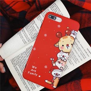 Image 5 - Christmas deer cartoon prezent dla przypadku iphone xr xs max x funda dla iphone 6 6s 8 7 plus silikonowy miękki matowy futerał na telefon czerwony okładka