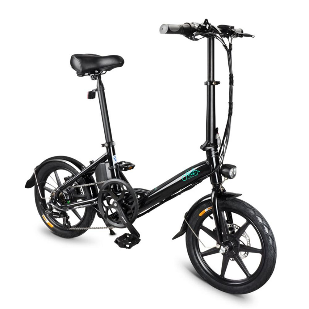 Portable FIIDO D3s 100V-240V 7.8Ah Folding Electric Bicycle Max 25KM/H 18KG Weight Easy To Carry