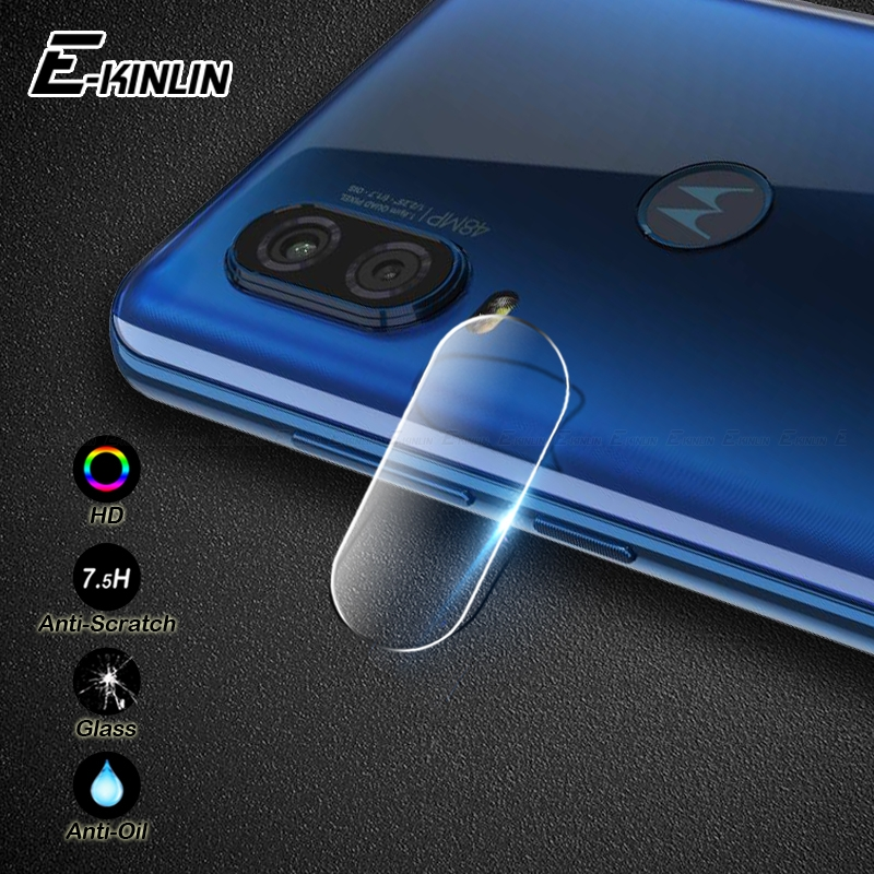 Tempered Glass Protective For Motorola Moto P50 P30 Play X4 E4 One Fusion Plus vision M Back Camera Lens Screen Protector Film(China)