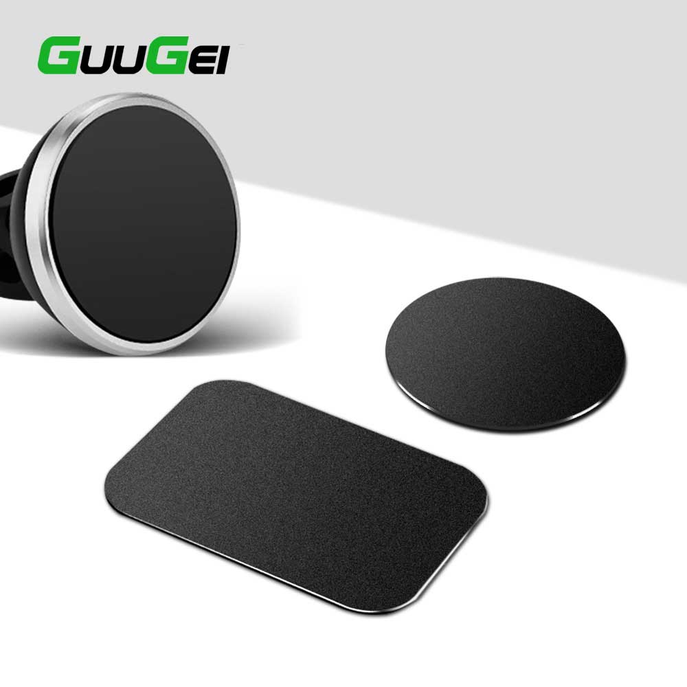 GUUGEI 5pcs/1pc Car Phone Holder Metal Plate Disk Iron Sheet Sticker 0.3mm Thin For IPhone Huawei Holder Magnet Car Stand Mount