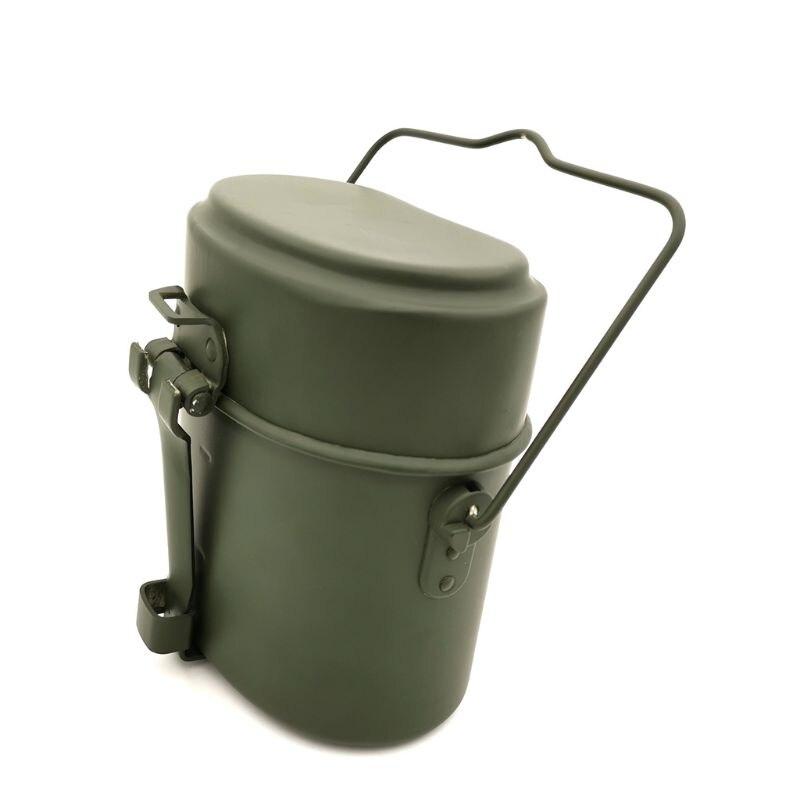 Немецкие военные зеленые 3 шт. в 1 походные кухонные принадлежности, набор для приготовления пищи, походные бэнто ланч-боксы, горшок/миска, оп...
