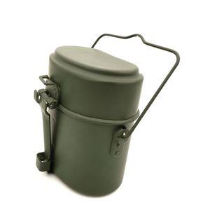 Image 1 - ドイツミリタリーグリーン3個で1キャンプ調理器具クックセットハイキングサバイバル弁当弁当箱ポット/ボウルwhosale & ドロップシップ