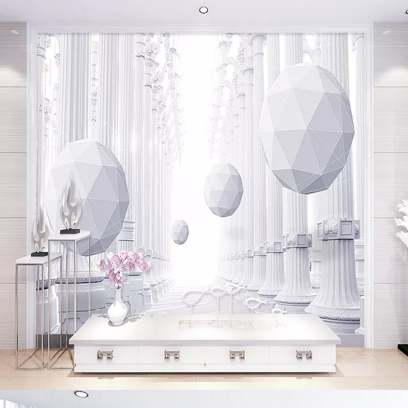 Custom Large Mural 3D Wallpaper Modern Creative 3D Expanded Geometric Sphere Pillar Room TV Back Wall Decor Deep 5D Embossed