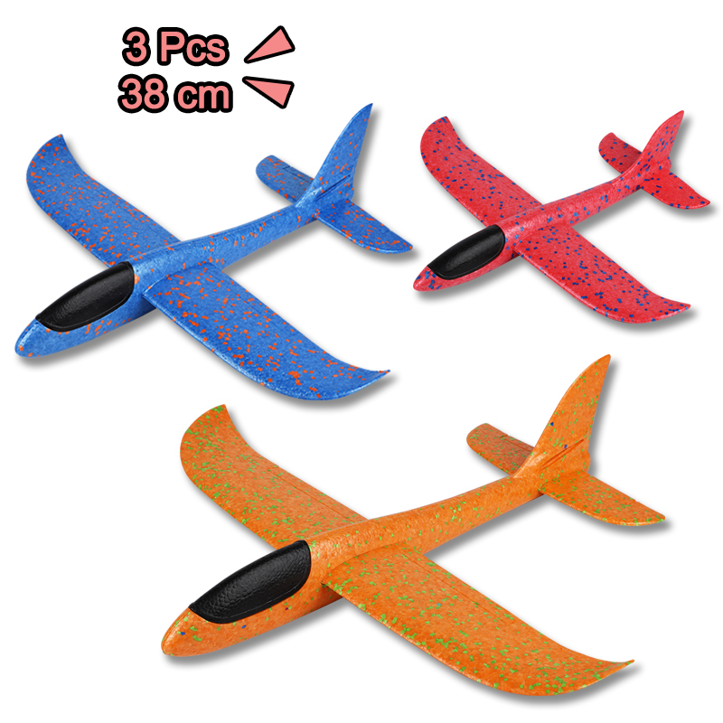 3 Pcs Hand Throw Airplane Toys for Children Foam EPP Hand Launch Glider Aircraft Outdoor Toys for Kids Party Game image