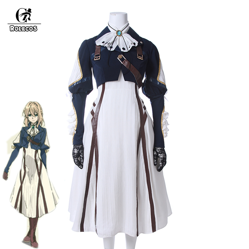 ROLECOS Japanese Anime Violet Evergarden Cosplay Costume Women Cosplay Dress Lolita Dress Adult Cosplay Uniform Full Set