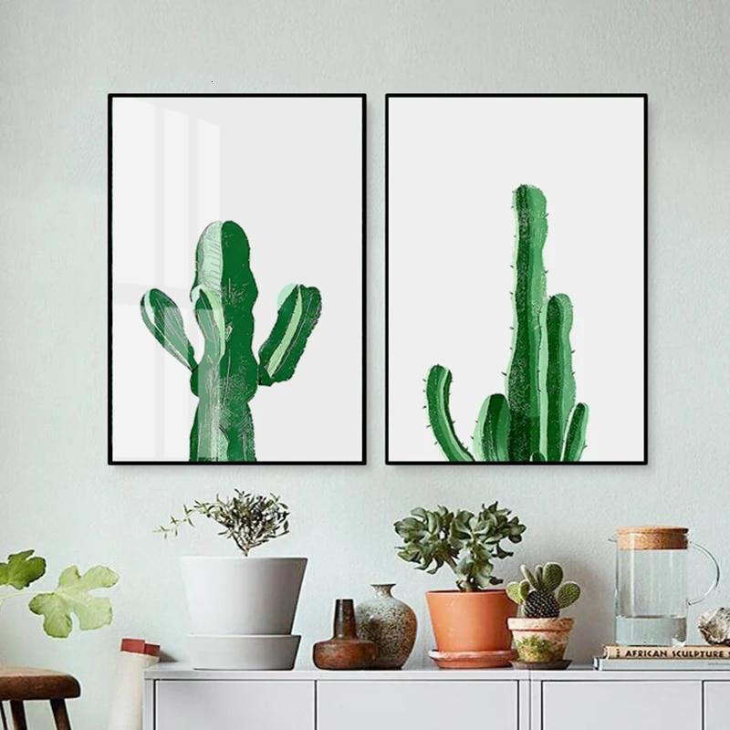 Wall Art Poster Cactus Art//Canvas Print Home Decor