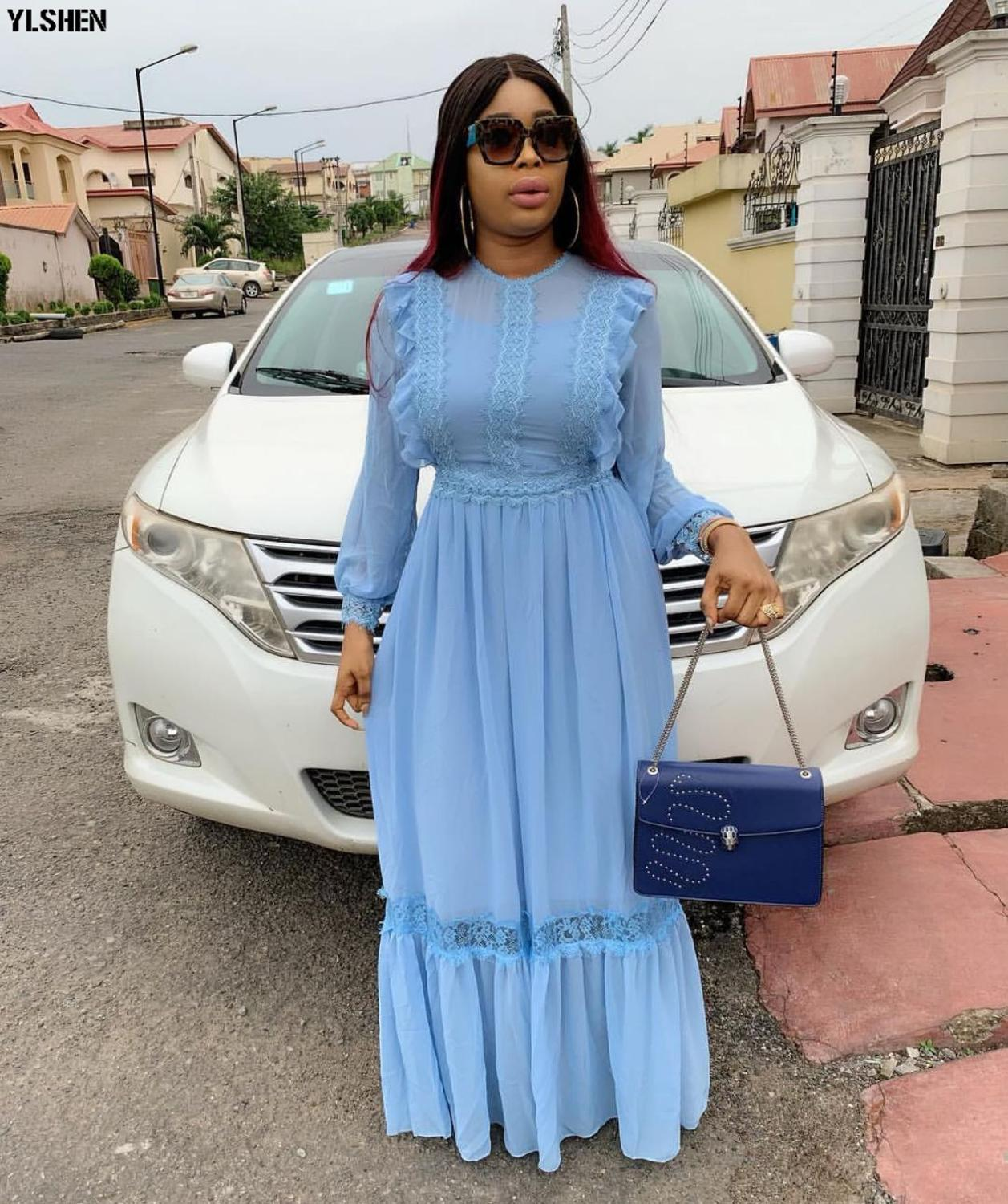 2019 African Maxi Dresses For Women Plus Size Africa Clothing Basin Riche Robe Boubou Africain High Quality Africa Dress Outfit