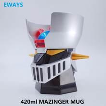 EWAYS-Robot japonés creativo de MAZINGER Z, tazas de acero inoxidable/cenicero de dos vías, tazón de oficina de PC, 420ml