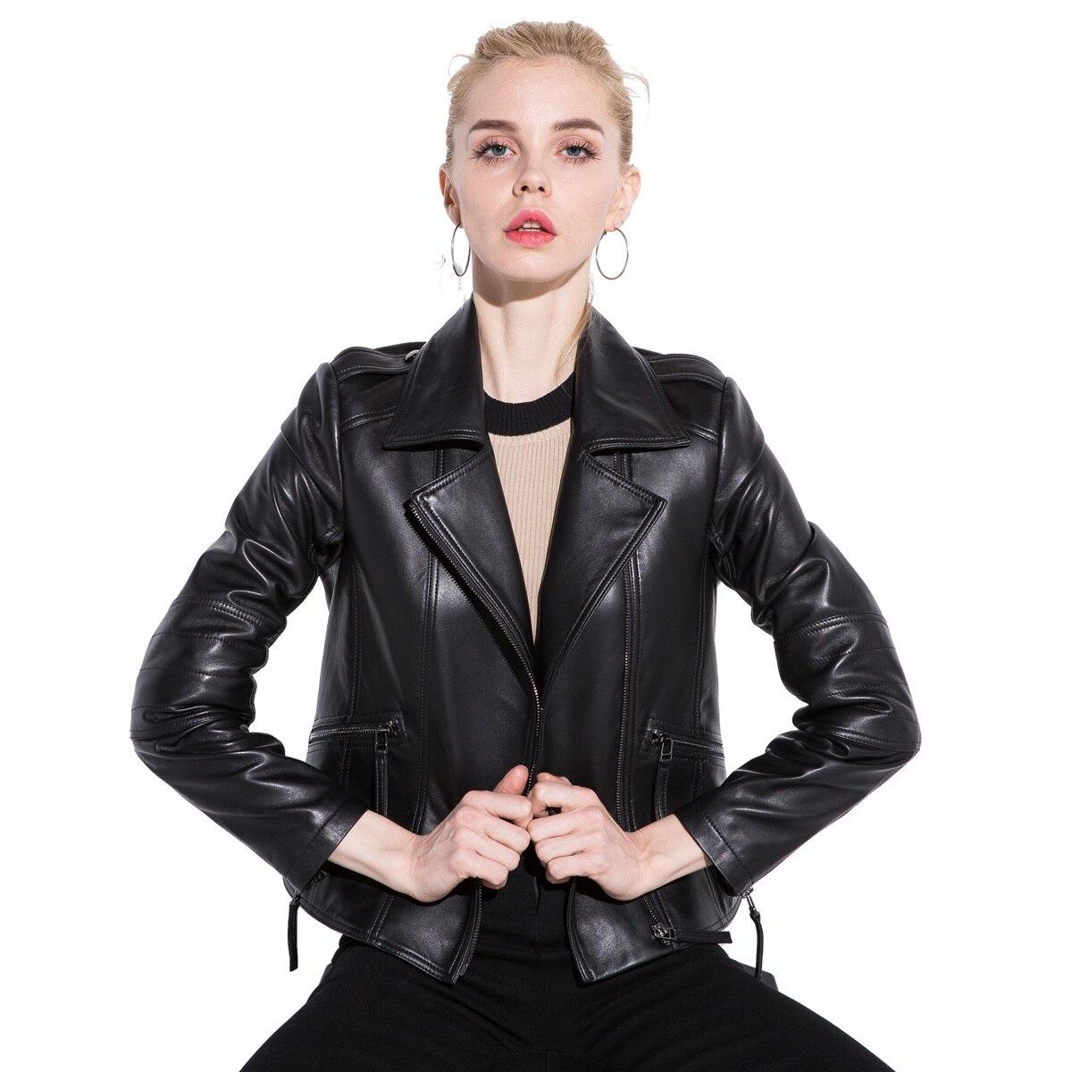 Real Genuine Leather Jacket Autumn Coat Women Clothes 2020 Korean Vintage Sheepskin Coat Female Black Tops Manteau 1851 YY1784