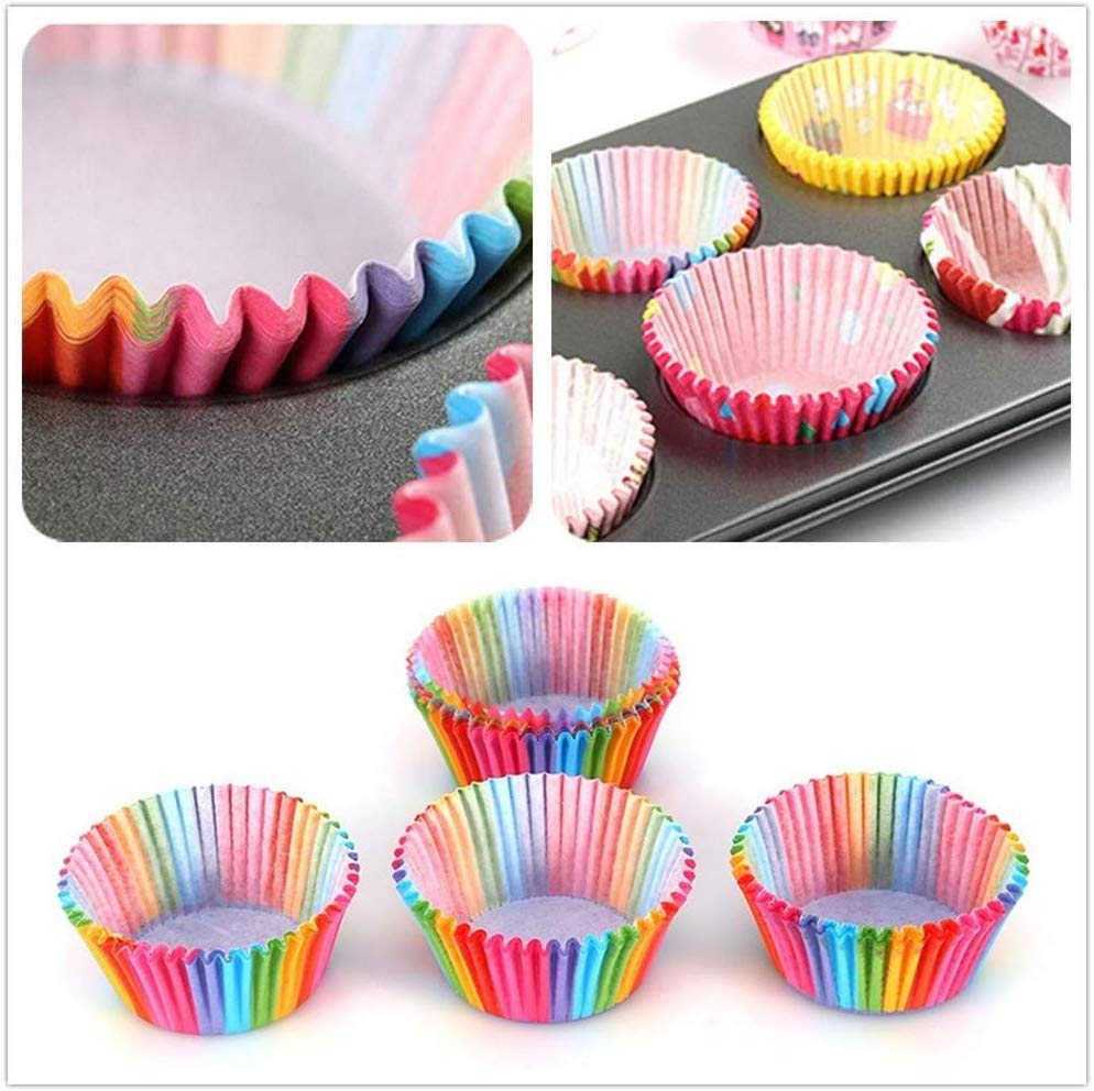 100Pcs Muffin Cupcake Cangkir Kertas DIY Kue Bentuk Cupcake Liner Baking Muffin Kotak Piala Case Pesta Tray Kue Cetakan alat Dekorasi