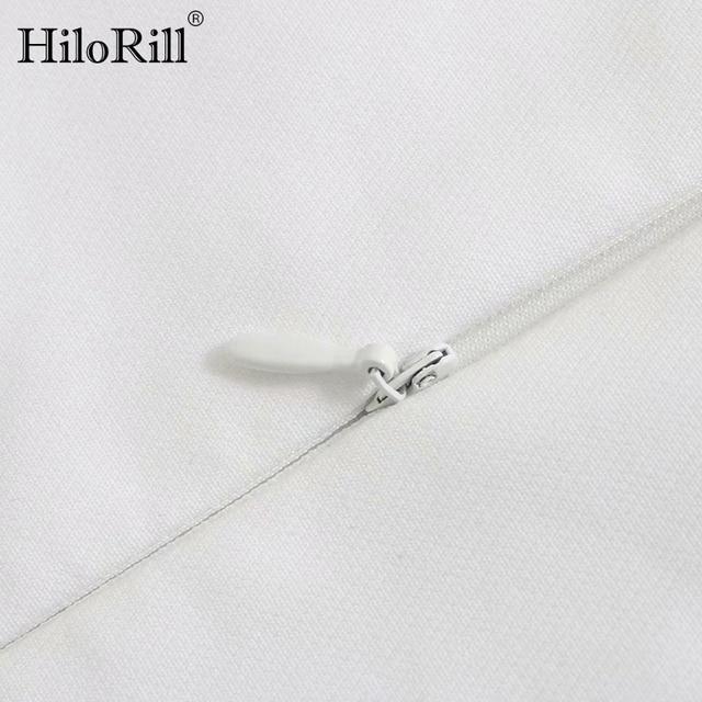 HiloRill Summer Elegant White Mini Dress Women Puff Sleeve Pleated Party Dresses Square Collar Casual Tunic Dress Vestidos