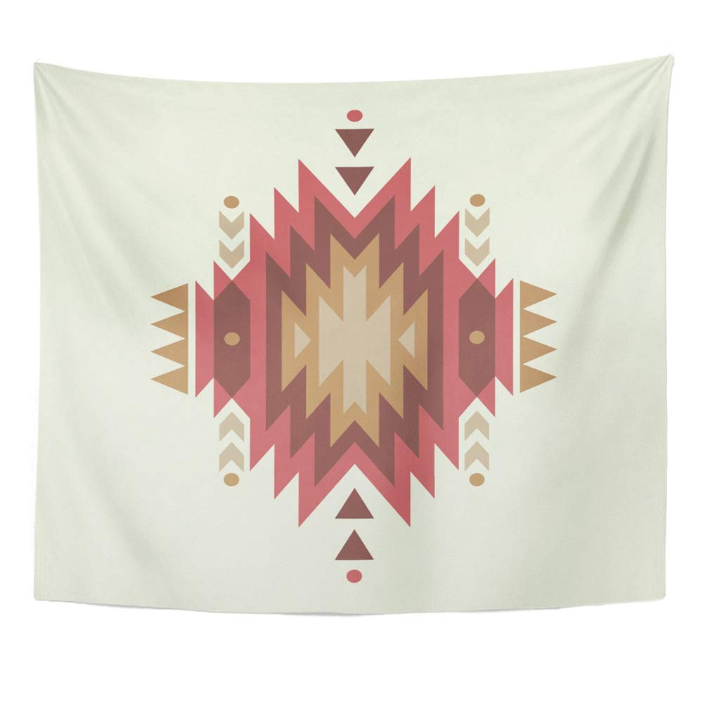 Red Native Colorful Ethnic Pattern American Navajo Tapestry For Bedroom Living Bedspread Room Dorm Decorations 50x60 Inches