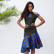 Африканские платья для женщин модное мини платье на бретельках