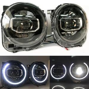 Image 4 - ل Jeep Renegade 2015 2018 المصابيح الأمامية LED DRL تشغيل أضواء ثنائية زينون شعاع عيون الملاك مصباح السيارات الأمامي