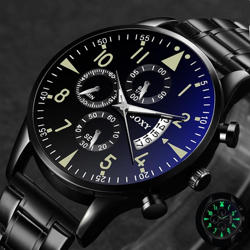 Zegarek kwarcowy Luminous SOXY zegarki męskie klasyczny kalendarz męski biznes zegarek ze stali relogio masculino popularne godziny saati 1