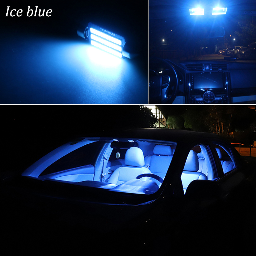 White License Light LED For Toyota Highlander 2008-2015 Blue LED Interior Kit