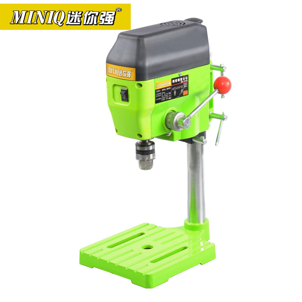 MINIQ High Variable Speed Bench Drill Press 480W Drilling Machine Drilling Chuck 1-10mm For DIY Wood Metal Electric Tools