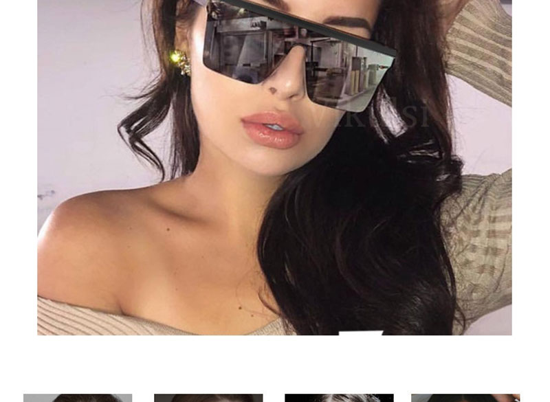 LEONLION Classic Vintage Square Sunglasses Woman Siamese Oversized Sunglasses Woman/Men Retro Sunglasses Lentes De Sol Mujer